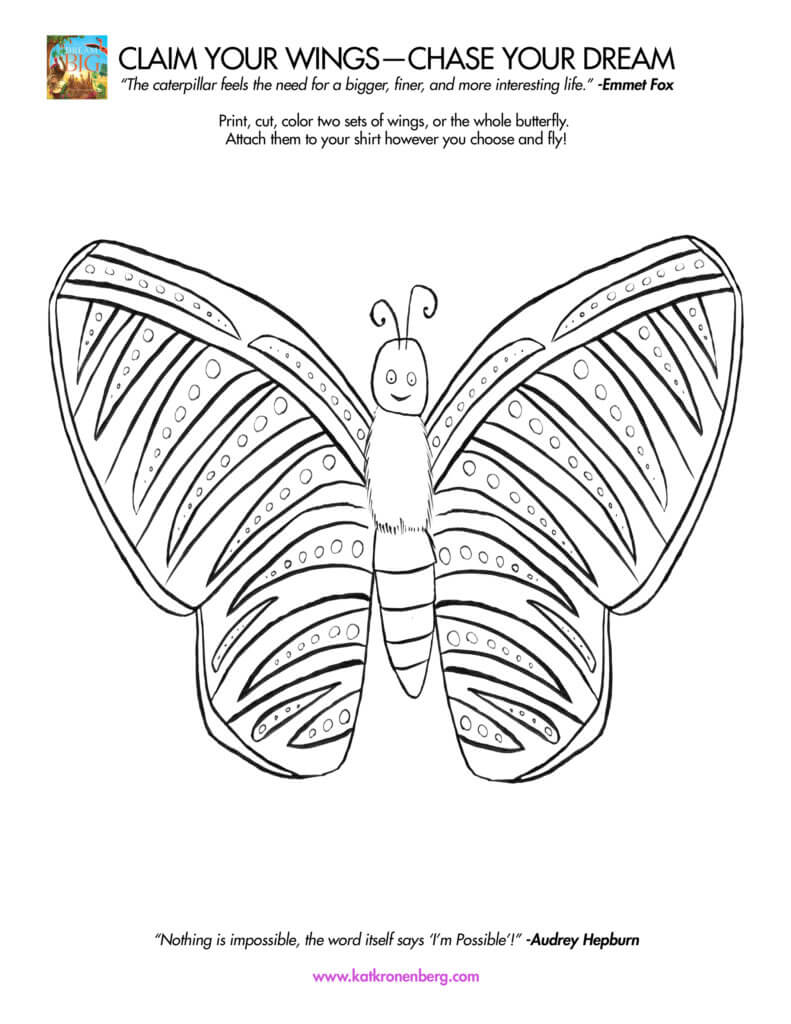Motivational activity download for kids: Claim Your Wings