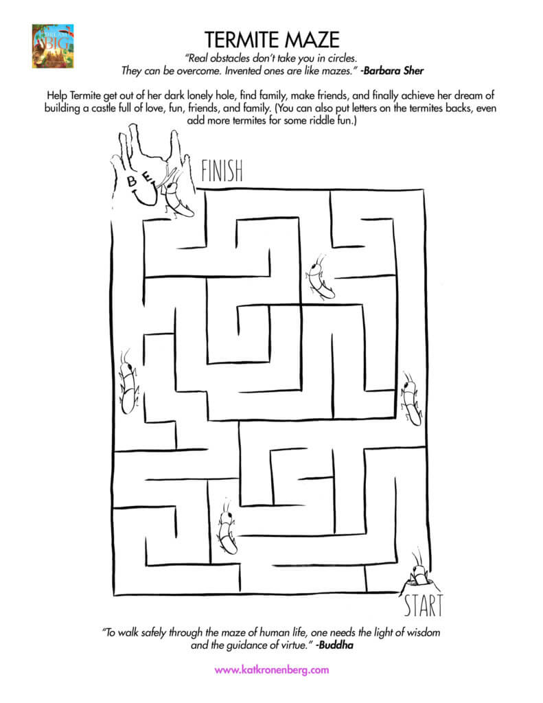 Fun activity download for kids: Termite Maze