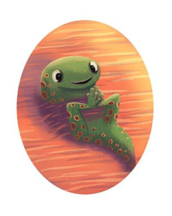 The tadpole from DREAM BIG by children's book author Kat Kronenberg