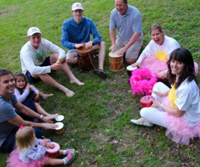 Family Drum Circle Kat Kronenberg