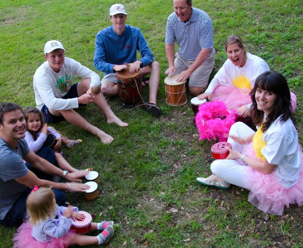 Family Fun Drum Circle 2016 after A-BUN-DANCE Game to celebrate all of our different dreams.