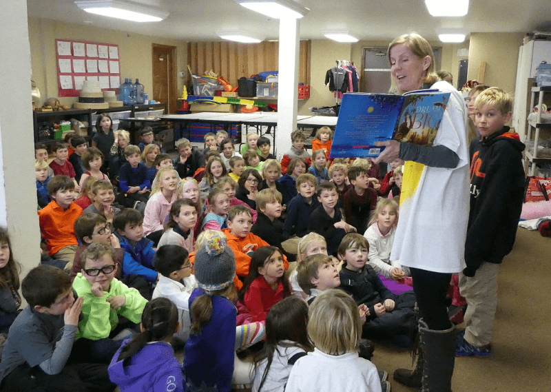Children's Book author Kat Kronenberg at a School Visit - Colorado
