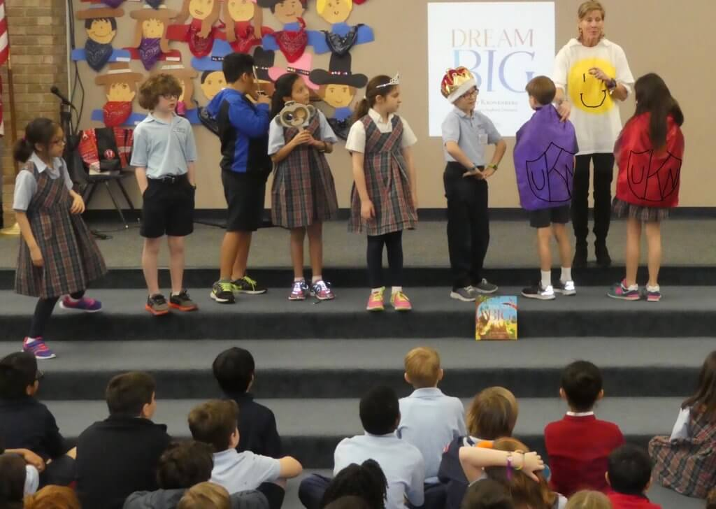 Author Kat Kronenberg at a School Event - Ft. Worth, Texas