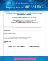 Book Order Form for Author Kat Kronenberg