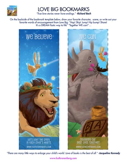Bookmarks from Children's Author Kat Kronenberg