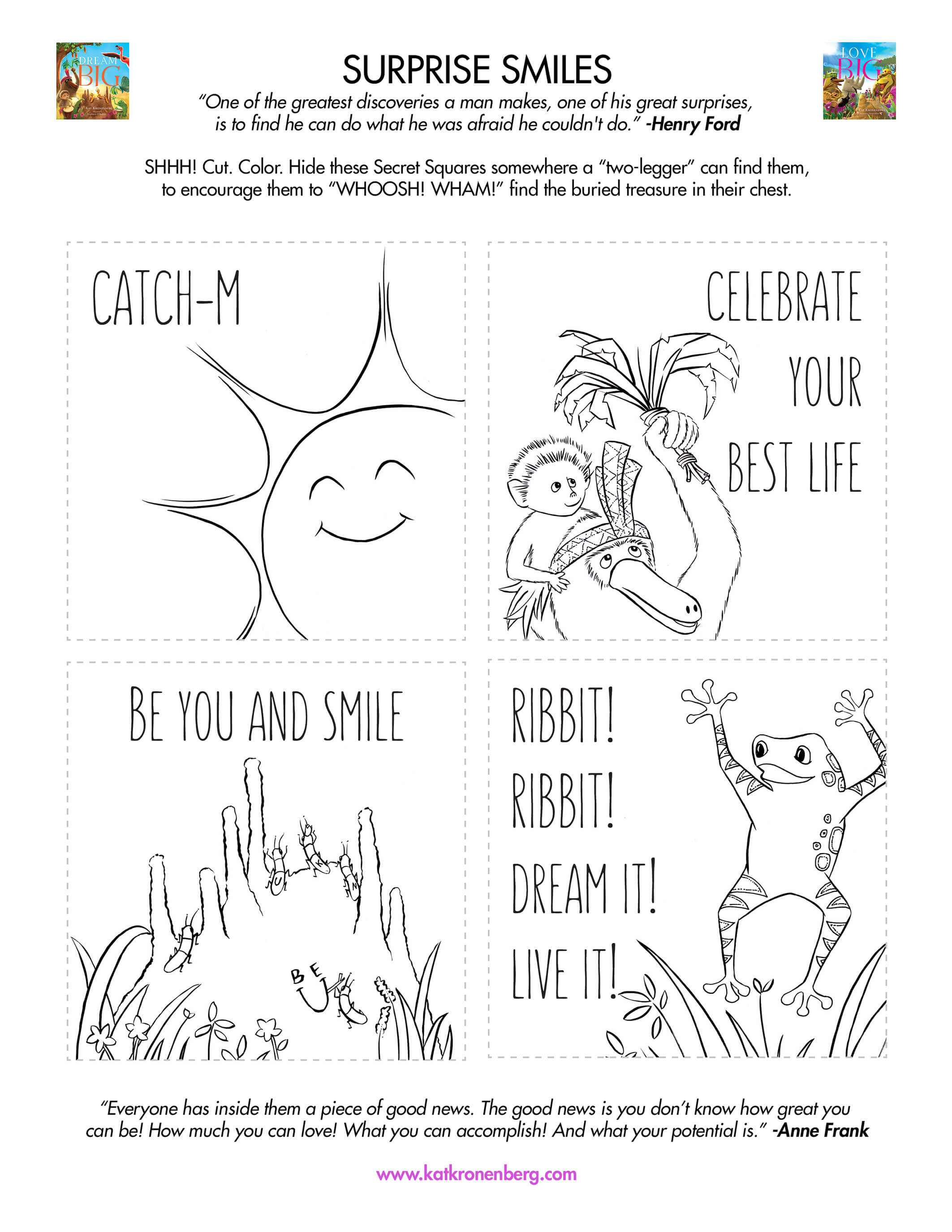 Motivational activity download for kids: Surprise Smiles