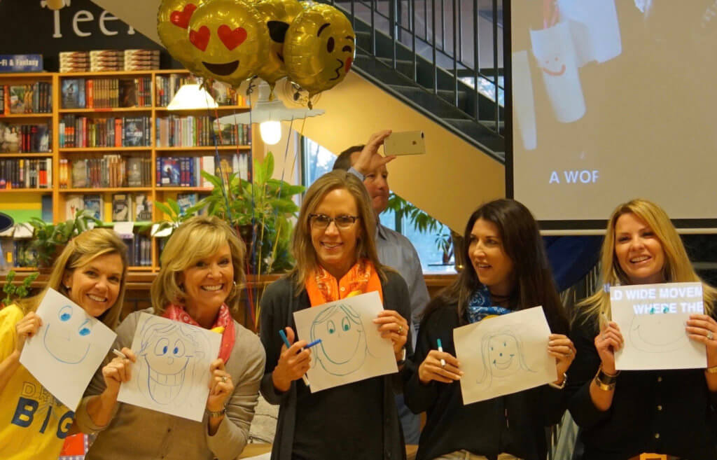 At my book release party, sweet friends made their CATCH-Ms.