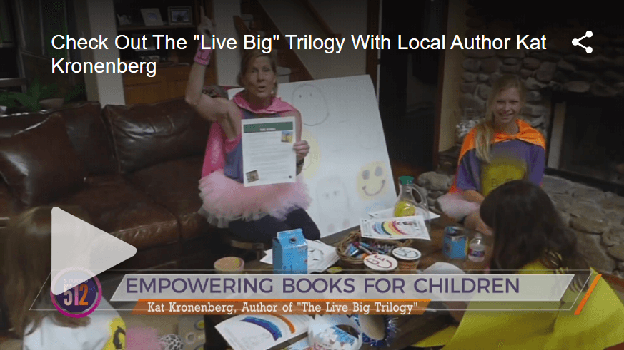 Children's Book author Kat Kronenberg on KXAN, Austin