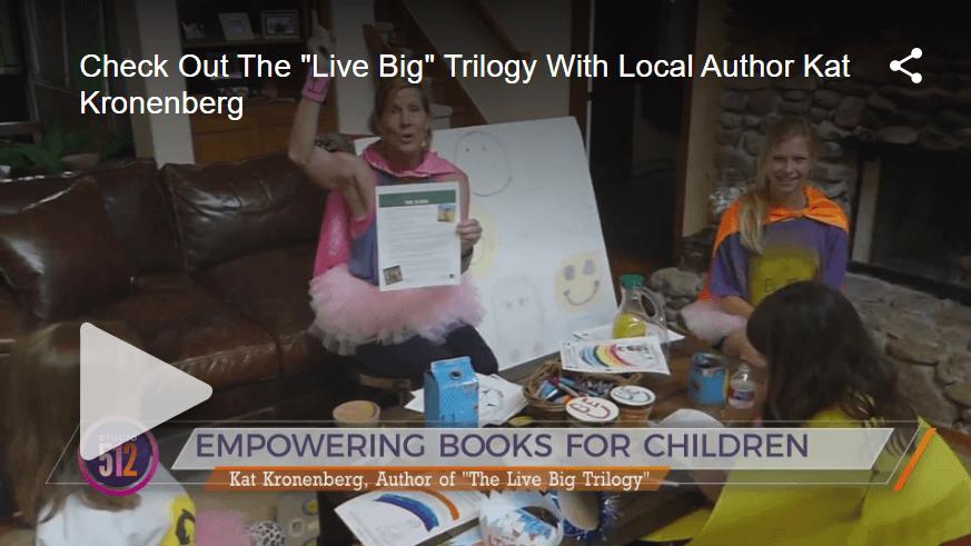Children's Book author Kat Kronenberg on KXAN, Austin - April 2020