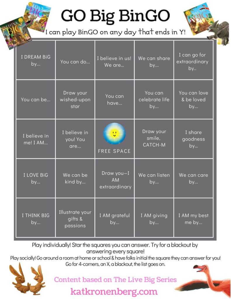 Motivational game download for kids: Go Big BinGO